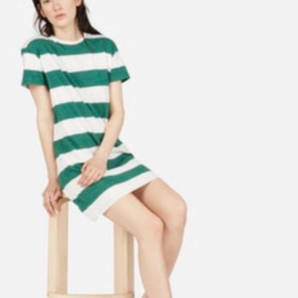 8a0f7215c31d Everlane Dresses | Brand New Green White Striped Dress | Poshmark